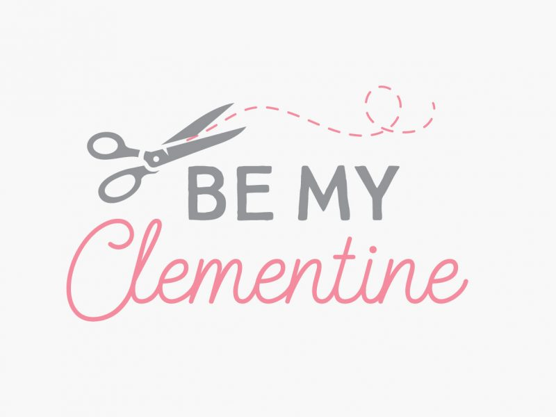 Be My Clementine logo design craft blogger etsy shop
